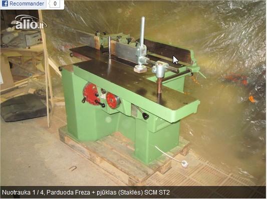 Presseur excentrique sur ancienne machine à bois Parduo10