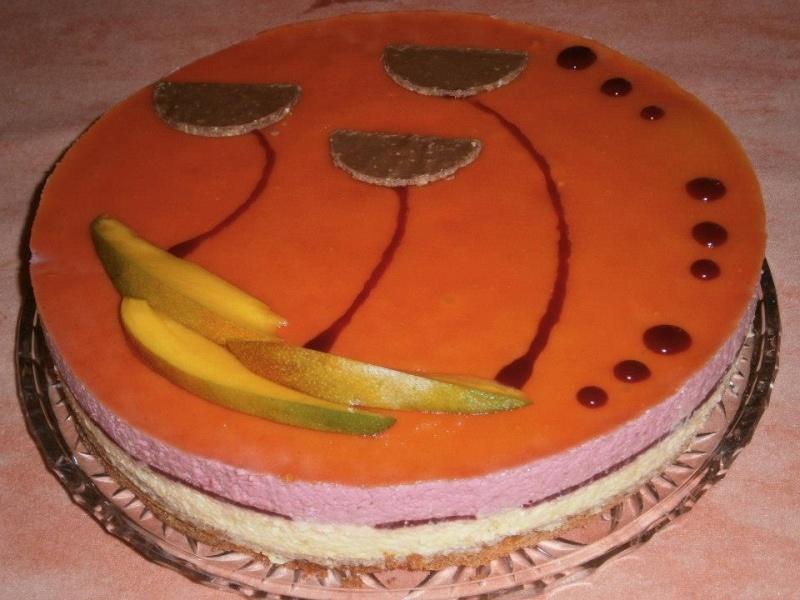 Succès mousses mangues/framboises au croquant chocolat blanc Noel_111