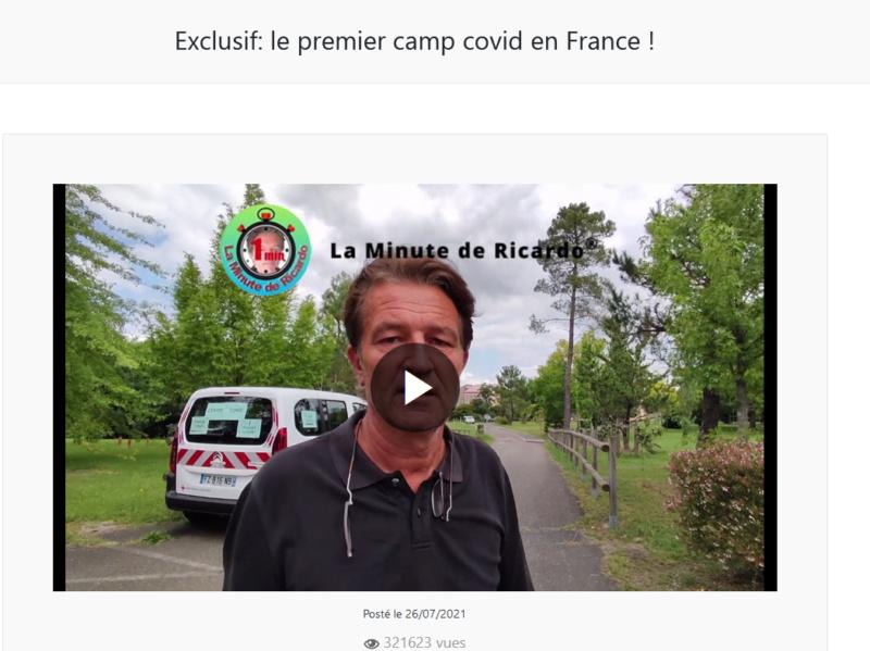 """La """"Une TV"""" de Richard Boutry (alias Ricardo)  - Présentation et live de lancement Camp_d10"""