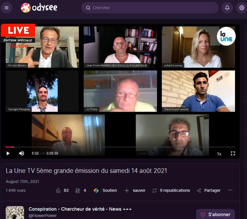 """La """"Une TV"""" de Richard Boutry (alias Ricardo)  - Présentation et live de lancement La_une12"""