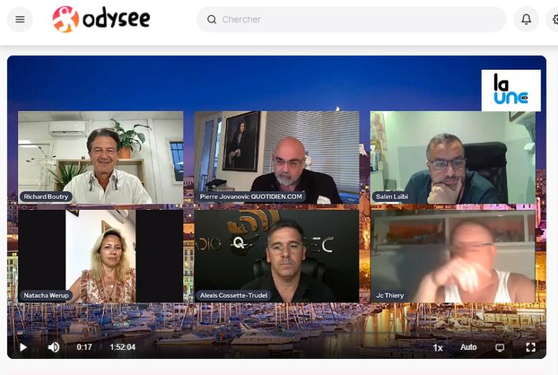 """La """"Une TV"""" de Richard Boutry (alias Ricardo)  - Présentation et live de lancement Live_u10"""