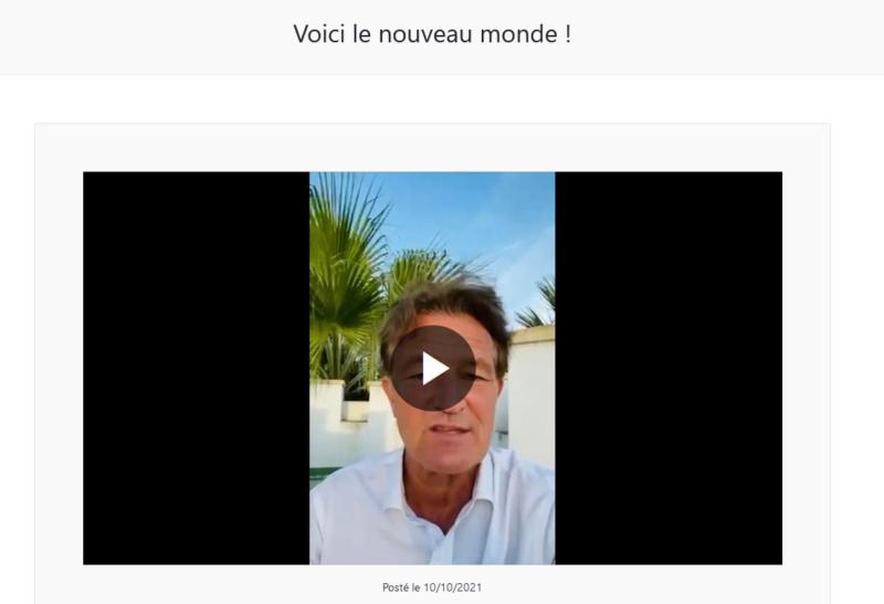 """La """"Une TV"""" de Richard Boutry (alias Ricardo)  - Présentation et live de lancement Voici_10"""