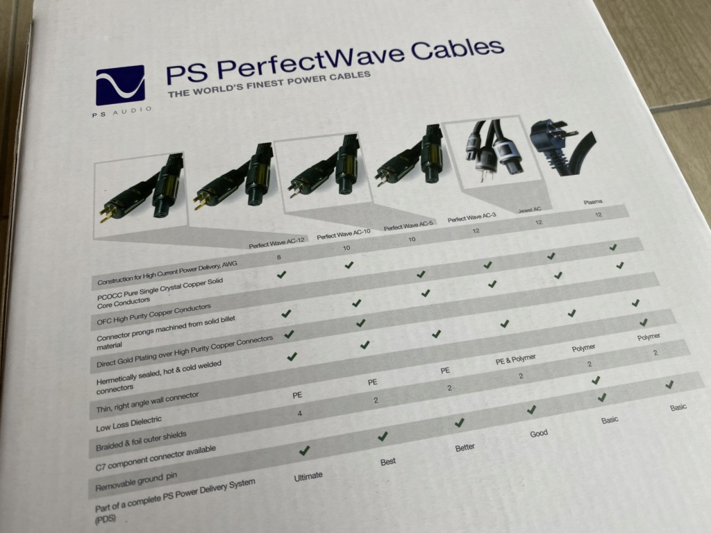 PS Audio PerfectWave AC3(Latest Version) 4mm High Current Power Cord(1.5M)SOLD Img_4520