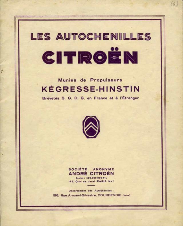 Les tracteurs Citroën à propulseurs Kègresse Ac194617
