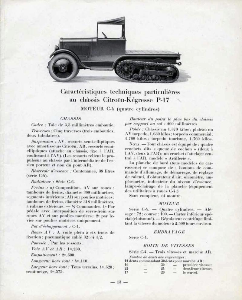 Les tracteurs Citroën à propulseurs Kègresse Ac194618