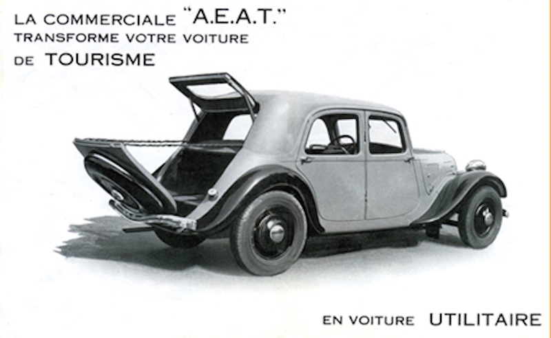 Citroën : les Traction Avant Citroën découvrables A.E.A.T. Aeat_c10