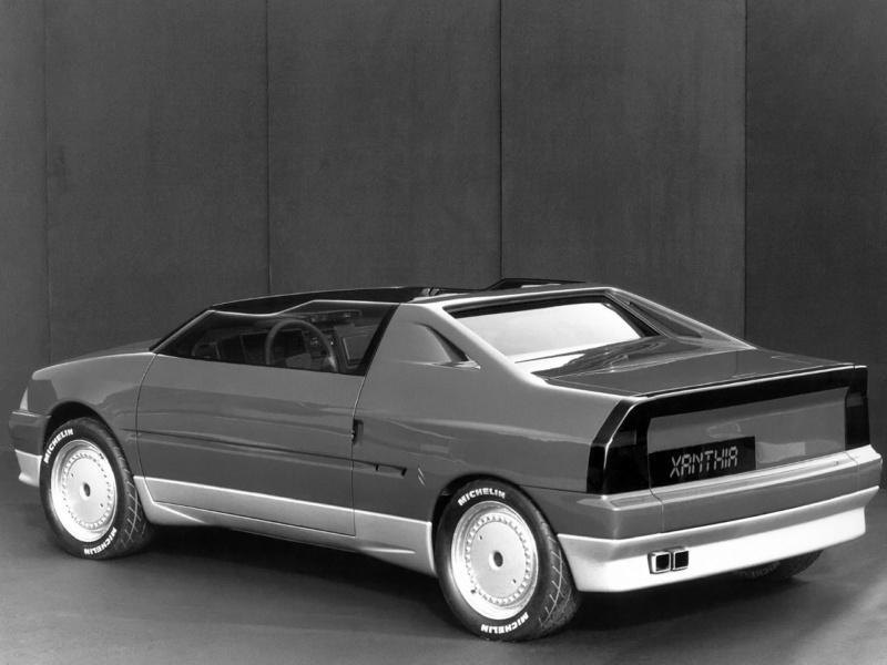 1986 - Citroën Xanthia, concept car petit roadster dérivé de l'AX Citroe57