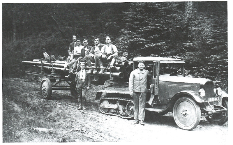 Les tracteurs Citroën à propulseurs Kègresse Entrep11