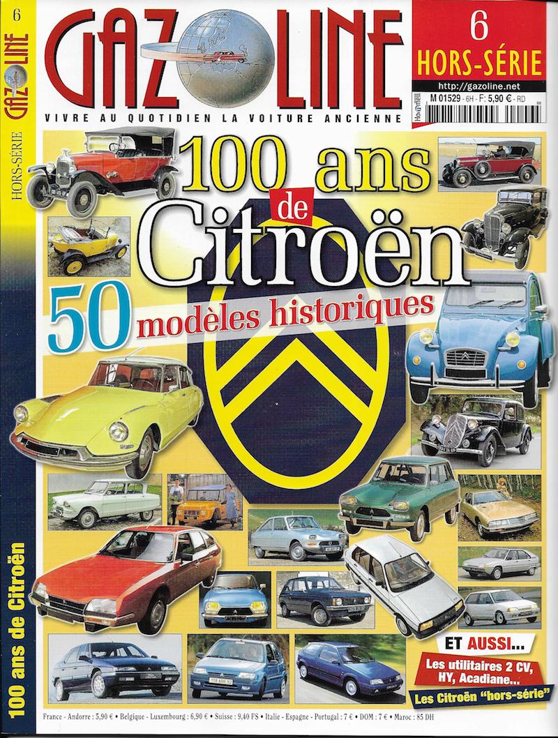 GAZOLINE HORS SÉRIE 100 ans de Citroën HS # 6 de 10/2018 Gazoli10