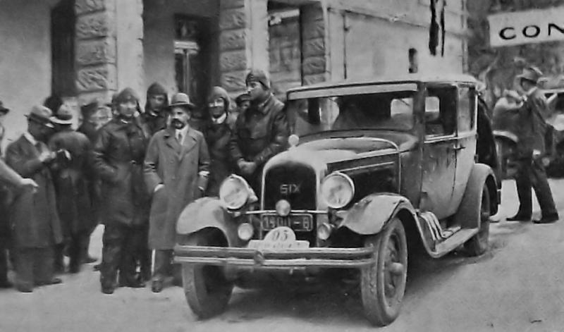 Une C6 au Rallye de Monte Carlo en 1930 Montec10