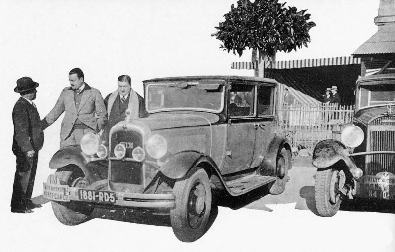 Une C6 au Rallye de Monte Carlo en 1930 Rallye10
