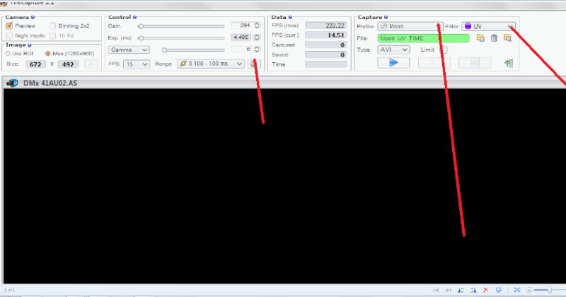 logiciel fire capture avec DMK Ologic10