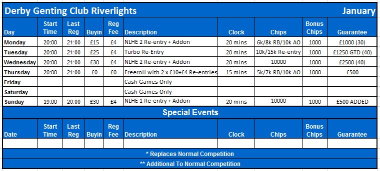 Schedule as of January 2013 Derby_10