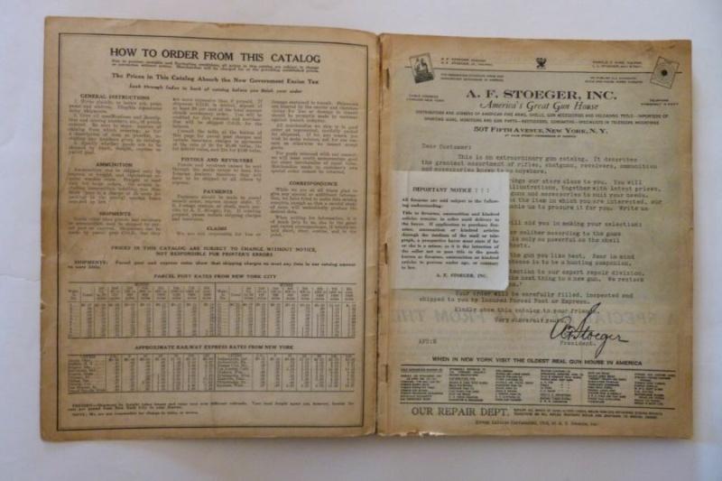 Le catalogue Stoeger, New York, année 1934 01310