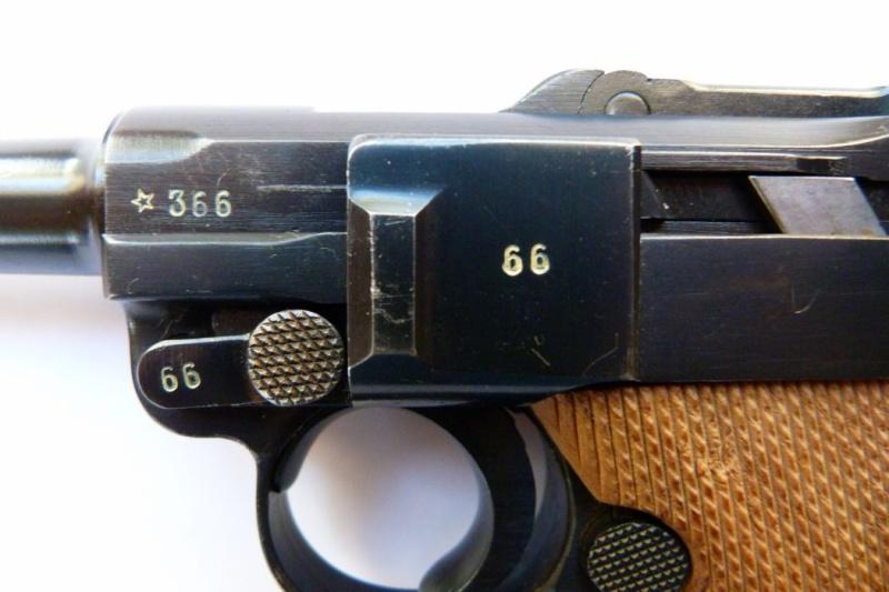 """P08 français - Un rare P 08 """"français"""", daté 42. Mauser21"""