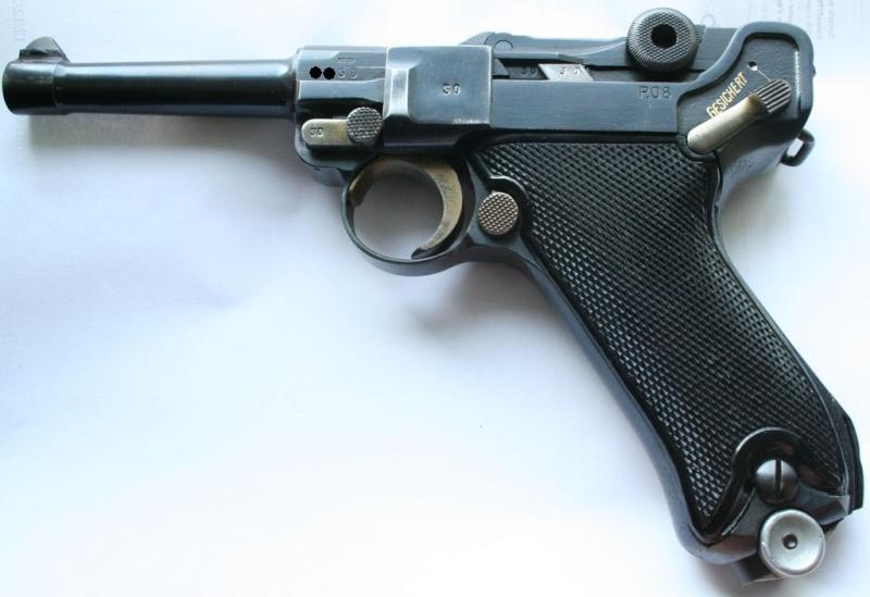 """Un rare Luger Mauser commercial """"banner"""", daté 42. P08_sa10"""