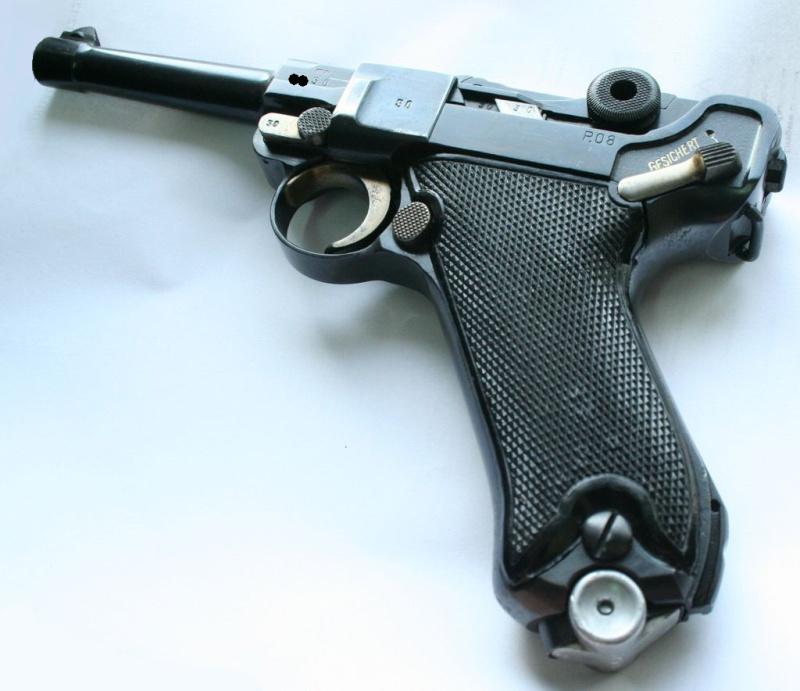 """Un rare Luger Mauser commercial """"banner"""", daté 42. P08_sa11"""