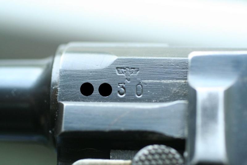 """Un rare Luger Mauser commercial """"banner"""", daté 42. P08_sa13"""
