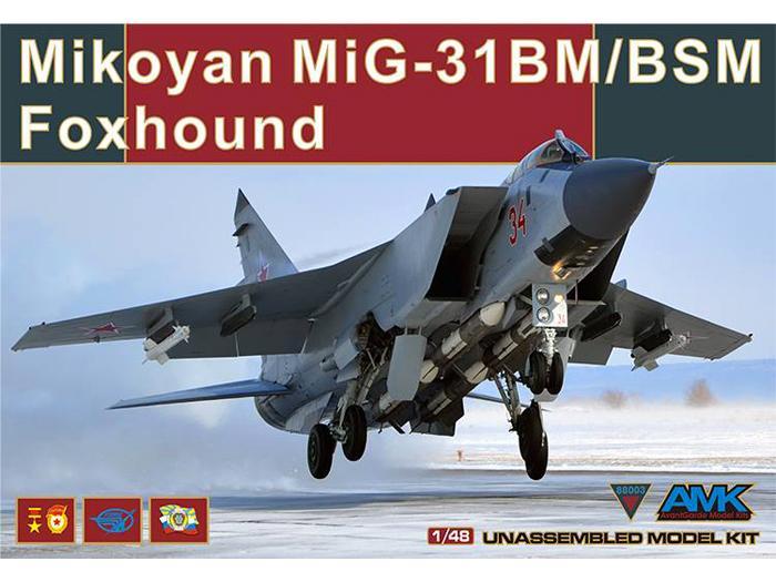 "Mikoyan-Gurevitch MiG-31 BM/BSM ""Foxhound"" (AMK 1/48) Amk-ma10"
