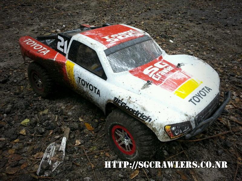 toyota - Boolean21's Traxxas Slash 4x4 Platinum Edition - Ivan Stewart Toyota Theme paint work 20130246