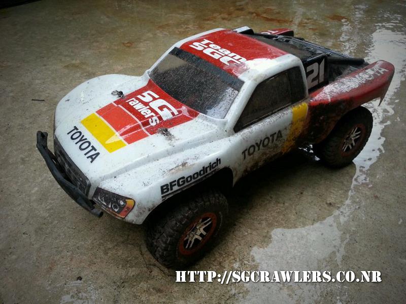 toyota - Boolean21's Traxxas Slash 4x4 Platinum Edition - Ivan Stewart Toyota Theme paint work 20130250