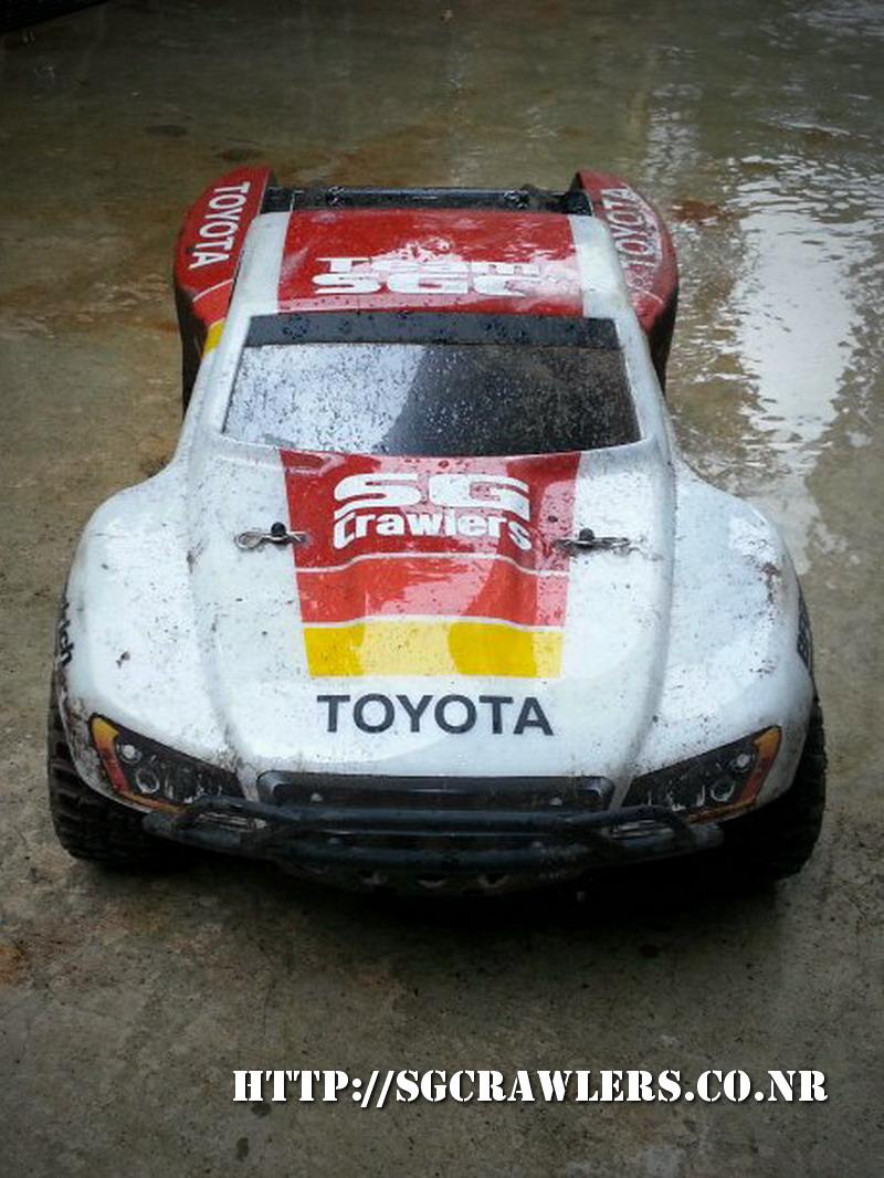 toyota - Boolean21's Traxxas Slash 4x4 Platinum Edition - Ivan Stewart Toyota Theme paint work 20130253