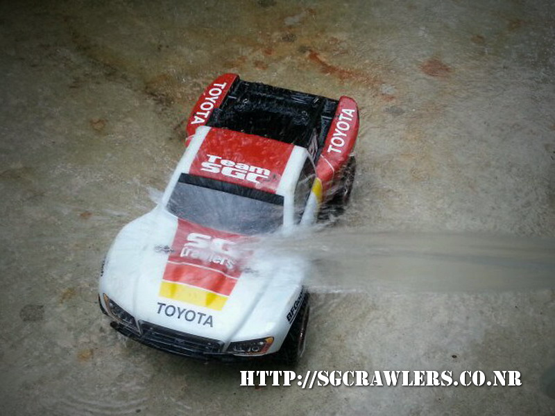 toyota - Boolean21's Traxxas Slash 4x4 Platinum Edition - Ivan Stewart Toyota Theme paint work 20130255
