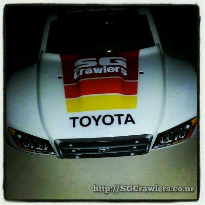 toyota - Boolean21's Traxxas Slash 4x4 Platinum Edition - Ivan Stewart Toyota Theme paint work Img-2011