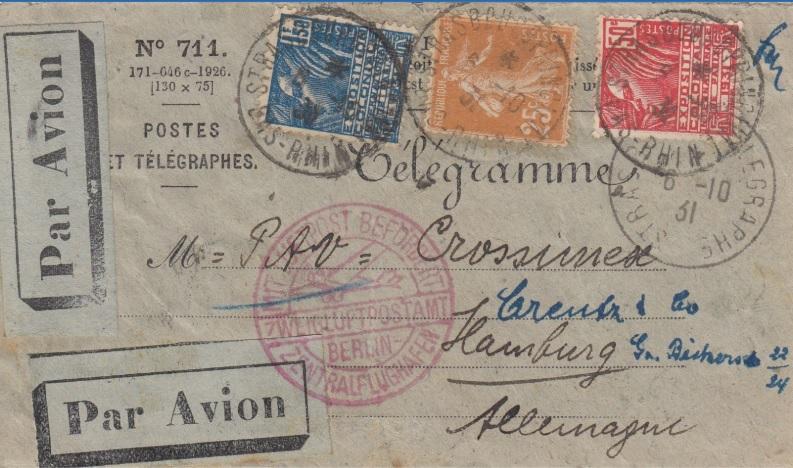 Télégramme pour l'étranger Telegr10