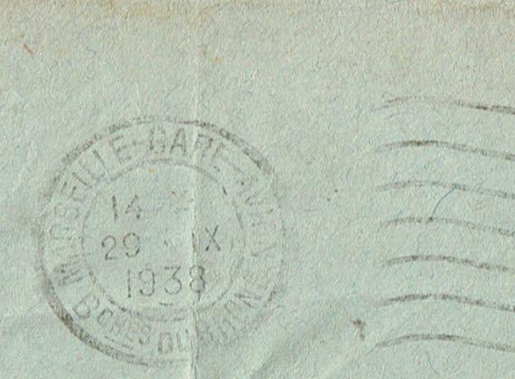 Croix ou lignes parallèles,au tampon, sur étiquettes PAR AVION Xxxx_032