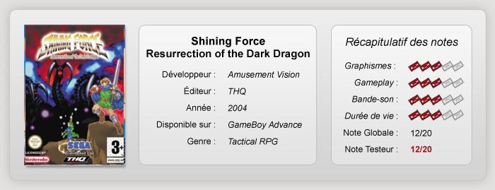 Shining Force Resurrection of the Dark Dragon (Test GBA) Fiche-10