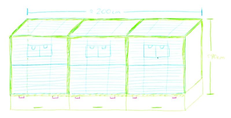 Volière intérieur avec pièces Vision de Hagen Plan_v10