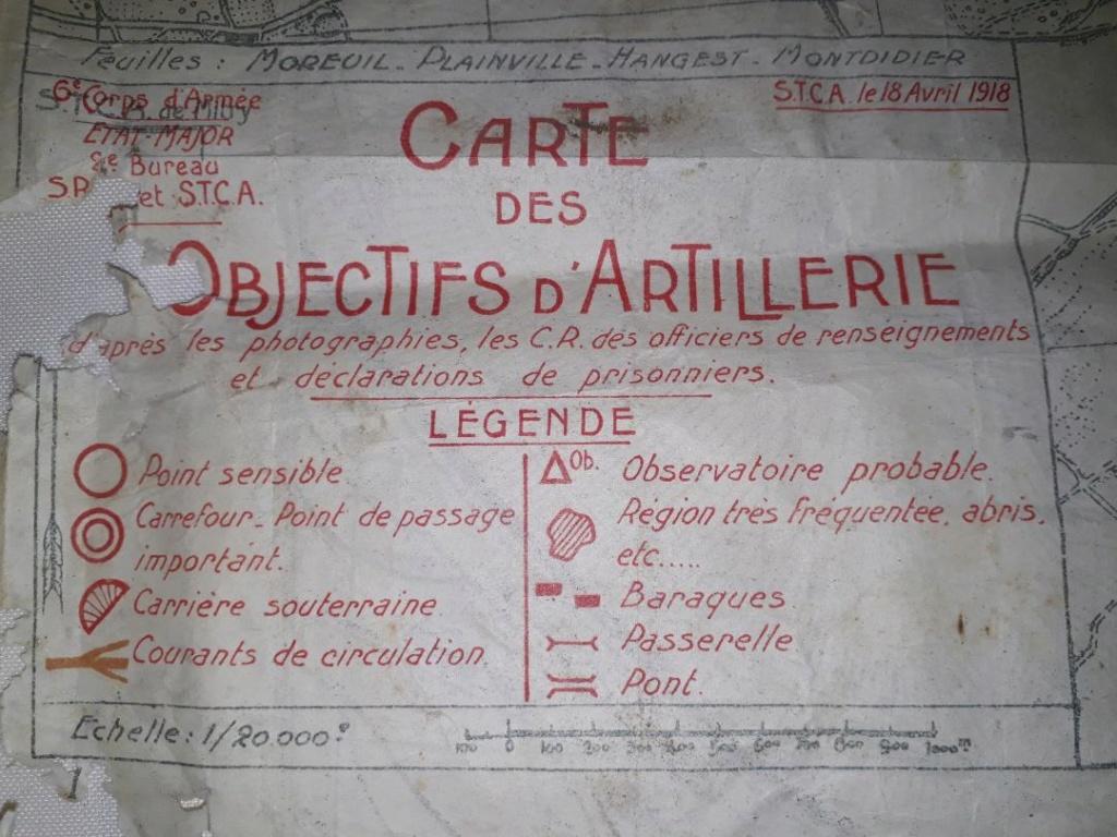 Carte des objectifs d' artillerie 1918  Carto110