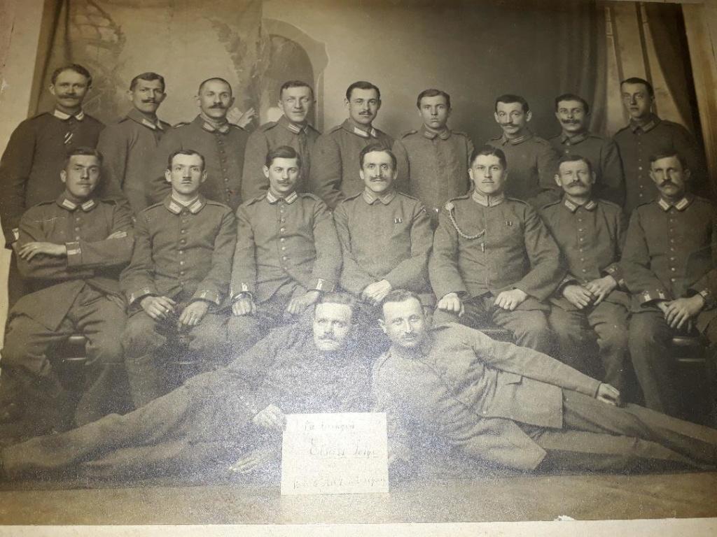 Photo de groupe soldats allemands 1914 Fot311