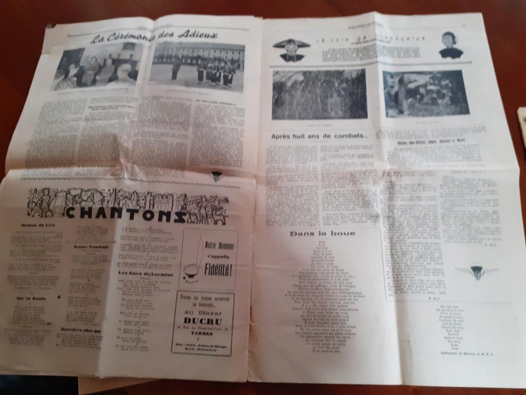 Papiers 1° regiment de hussards parachutiste 1954 Rhp110