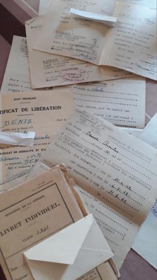 Livret et documents Chantier de Jeunesse de l'Ain Sto110
