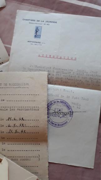 Livret et documents Chantier de Jeunesse de l'Ain Sto210
