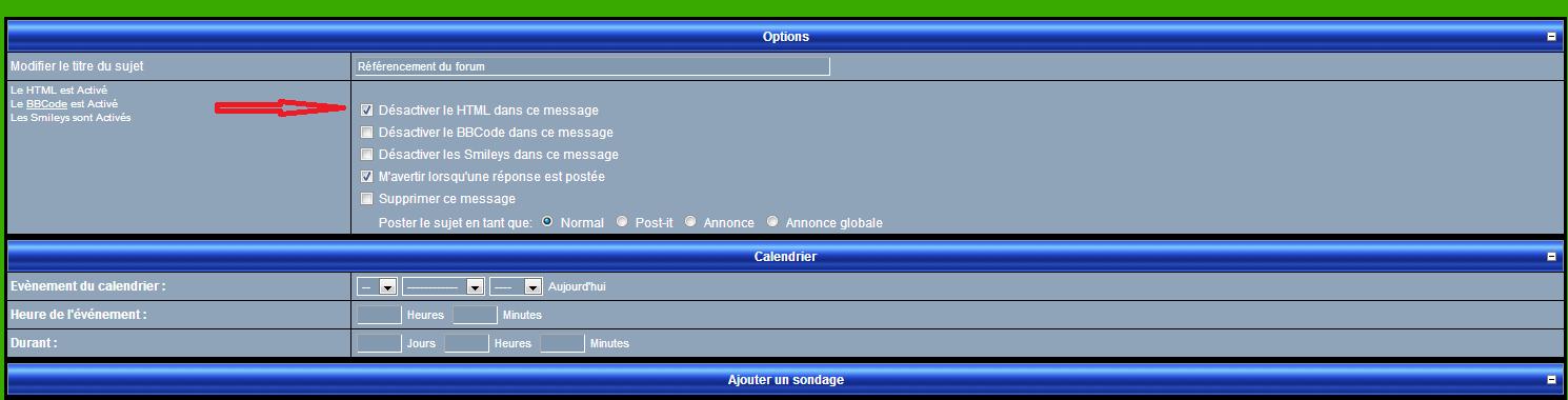 Soucis avec le html dans mes messages sur le forum Html10