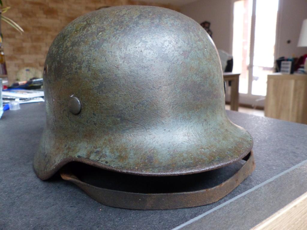 casque allemand  m35 identification  P1030613
