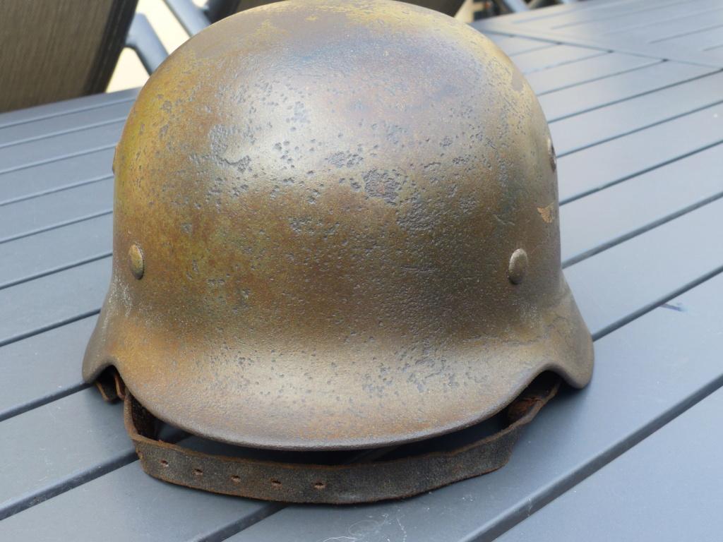 casque allemand m 40 luft camouflé  P1040149