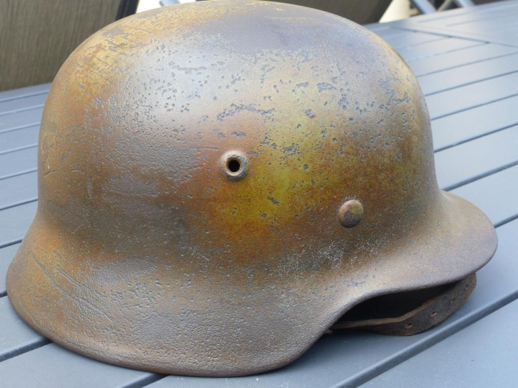 casque allemand m 40 luft camouflé  P1040150