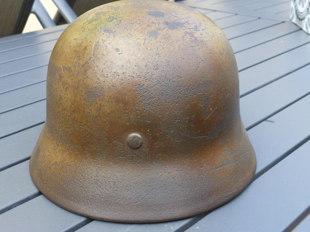 casque allemand m 40 luft camouflé  P1040151