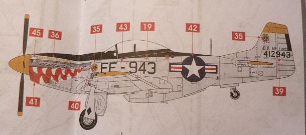 [ Airfix - Tamiya ] P-51 D Mustang 0-1410