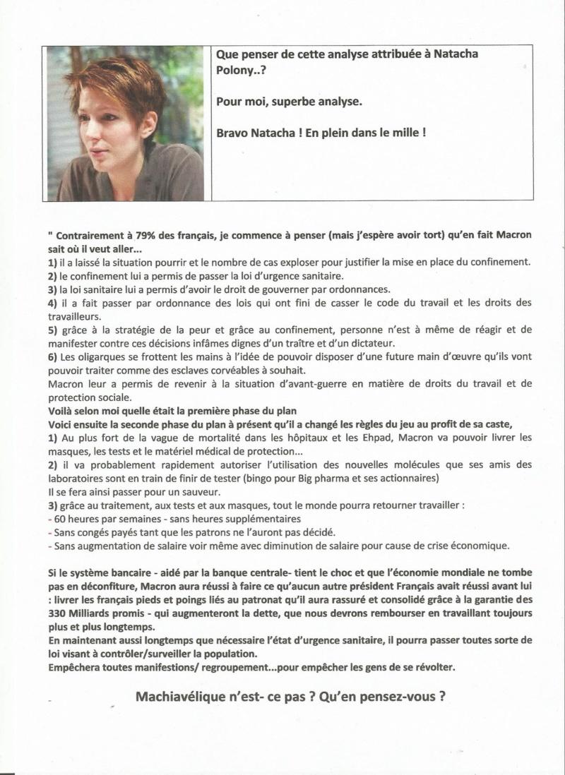 Bravo Natacha , excellente Analyse . Polony10