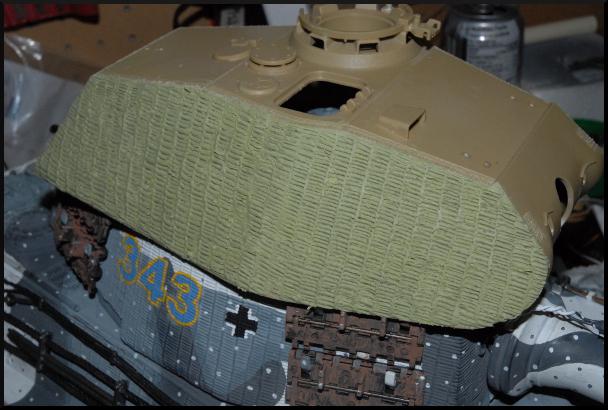 Porsche Turret King Tiger Zimmerit Zimmer12