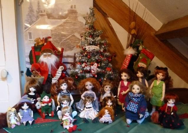 Quelques unes de mes BJD fêtent Noël ! P1050010