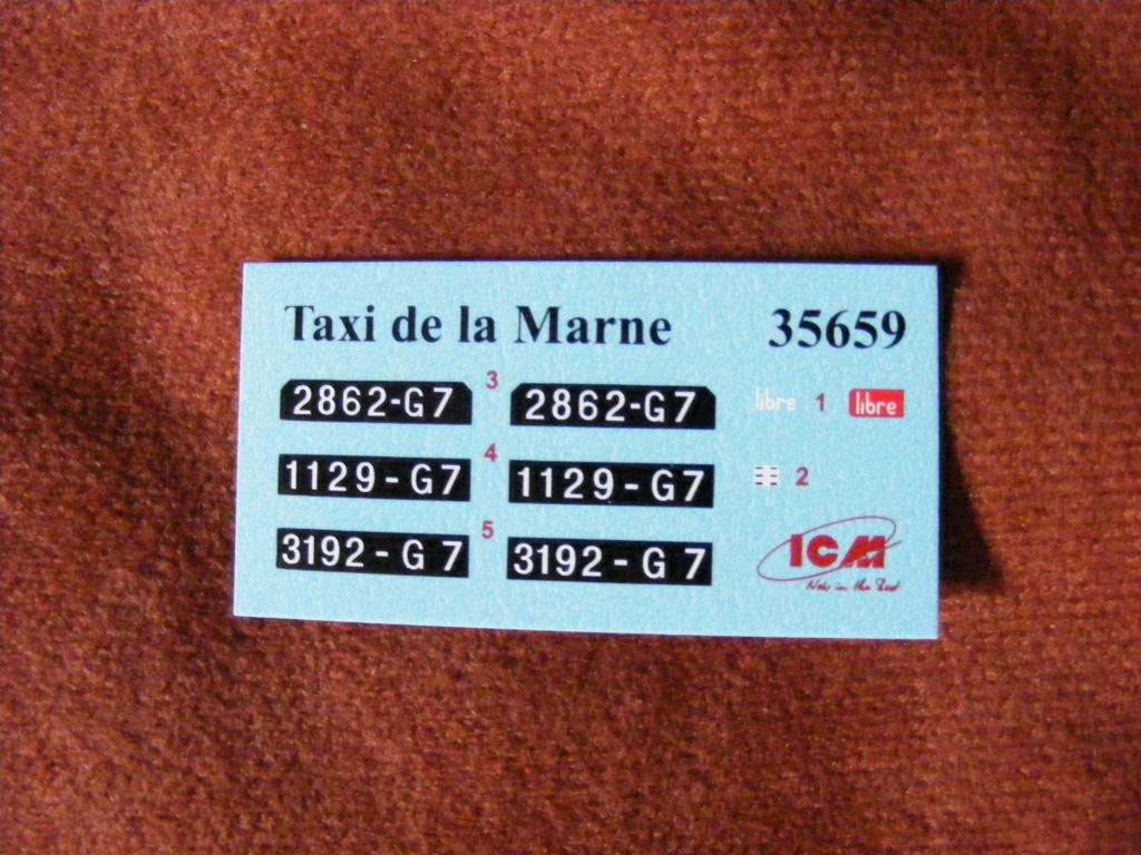 Renault Taxi de la Marne 1914  avec figurines (kits ICM 1/35) Dscf8283