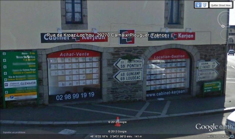 STREET VIEW : les bornes et les plaques Michelin Bretag10