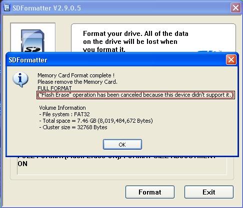 sd formater - [TUTO] Formater sa Carte µSD après avoir installé WP7 ou suite à des soucis divers - Page 6 Format10