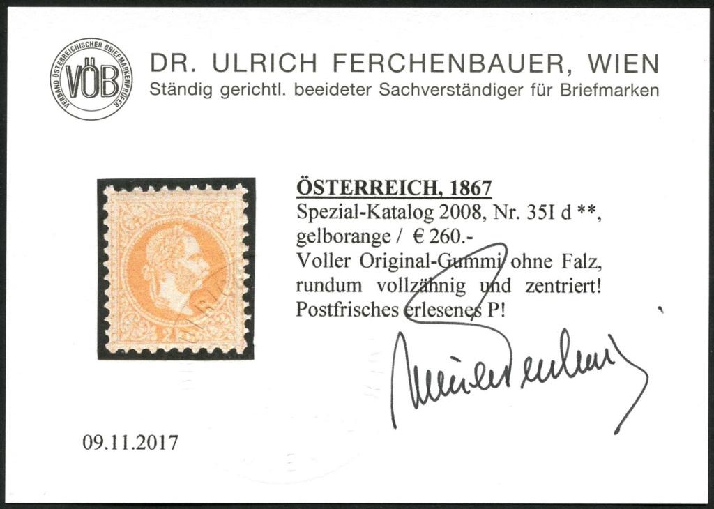 Freimarken-Ausgabe 1867 : Kopfbildnis Kaiser Franz Joseph I - Seite 20 35_id_10